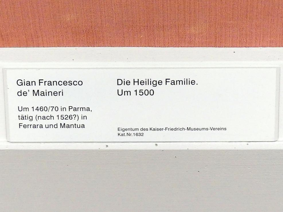 Gian Francesco de' Maineri: Die Heilige Familie, Um 1500