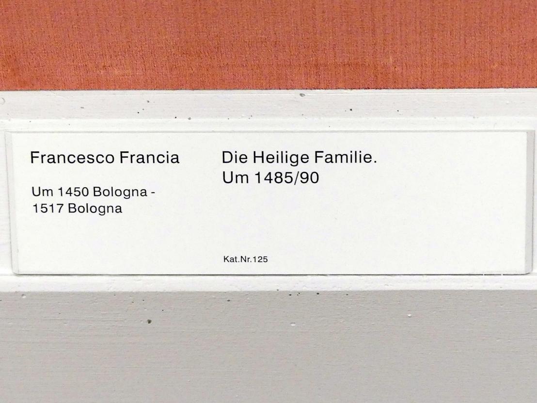 Francesco Francia (Raibolini): Die Heilige Familie, um 1485 - 1490, Bild 2/2