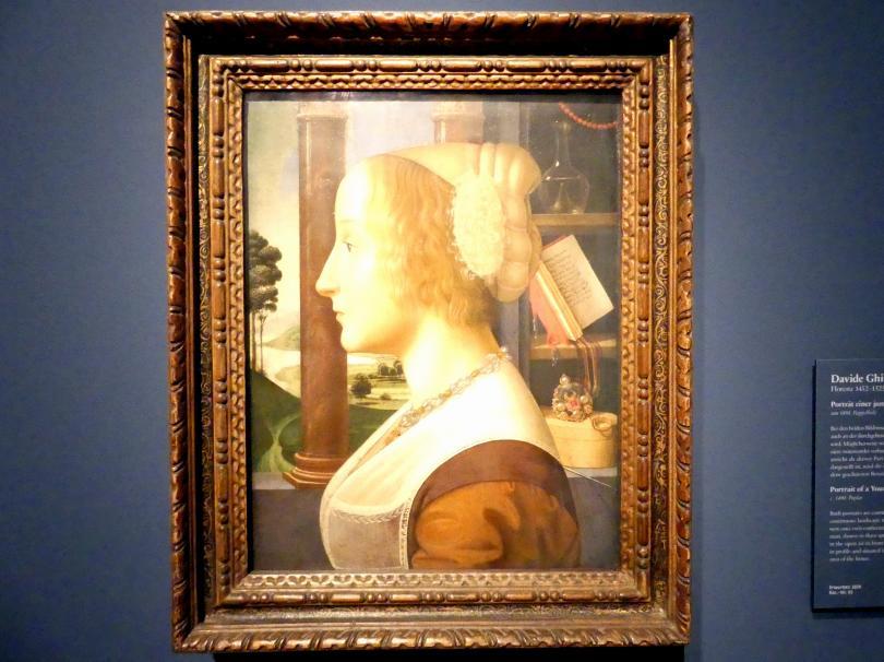 Davide Ghirlandaio: Portrait einer jungen Frau, um 1490