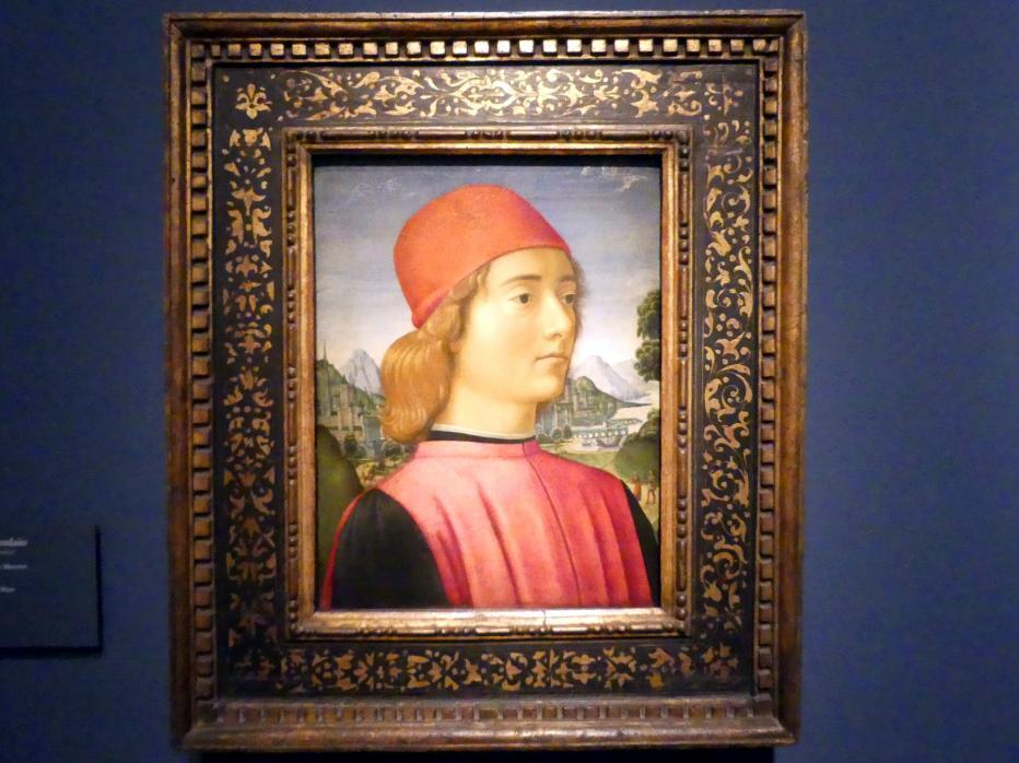 Davide Ghirlandaio: Portrait eines jungen Mannes, um 1490