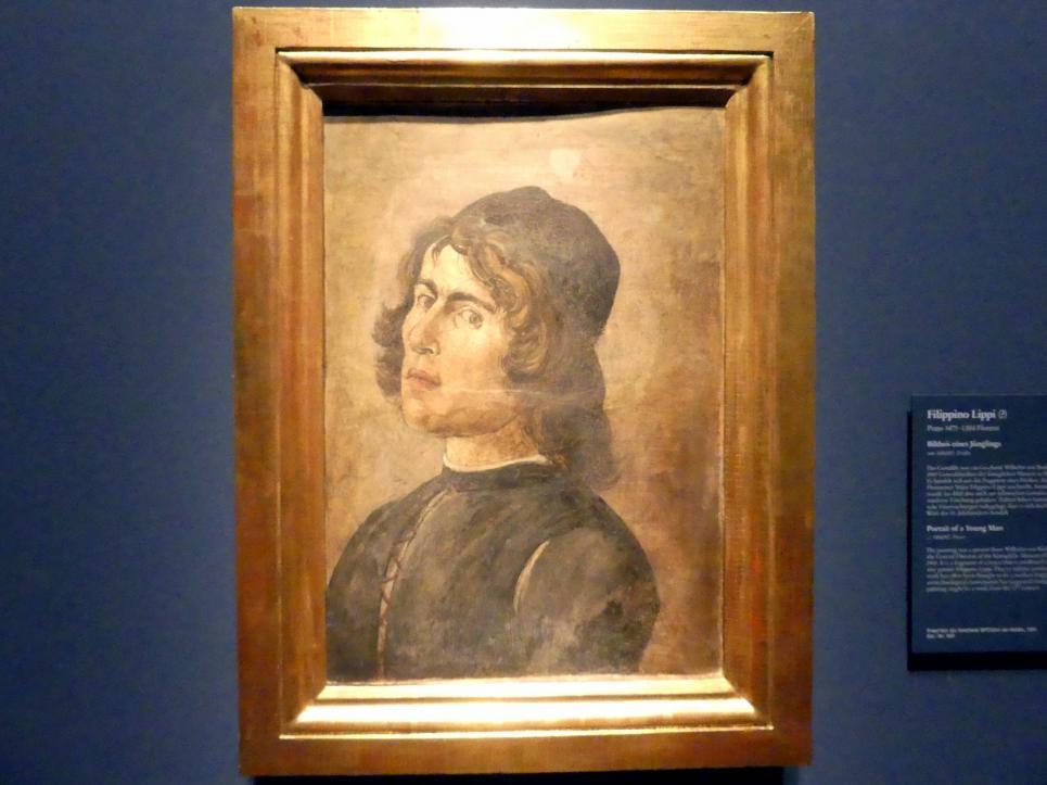 Filippino Lippi: Bildnis eines Jünglings, um 1484 - 1485