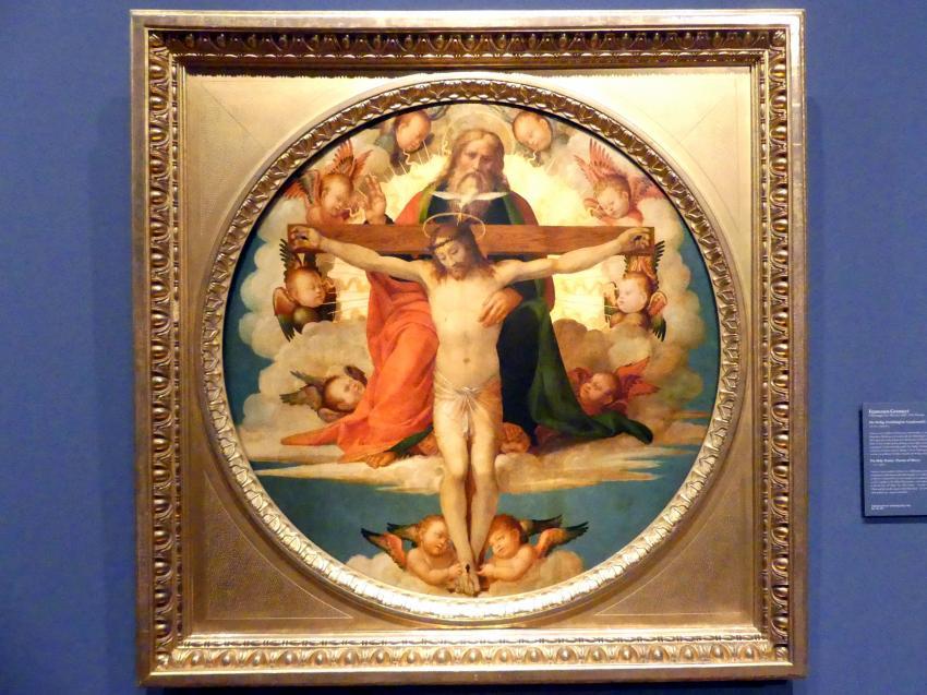 Francesco Granacci: Die Heilige Dreifaltigkeit (Gnadenstuhl), um 1515
