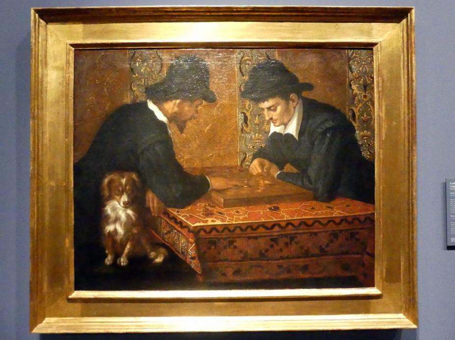 Ludovico Carracci: Zwei Schachspieler, Um 1590