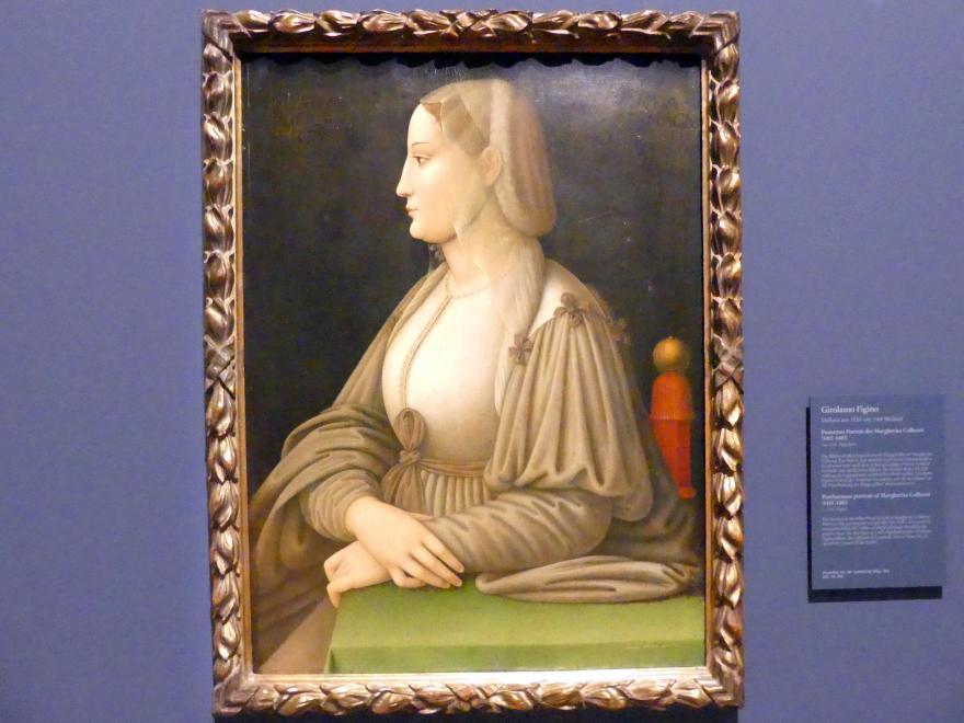 Girolamo Figino: Postumes Portrait der Margherita Colleoni (1455-1483), um 1530