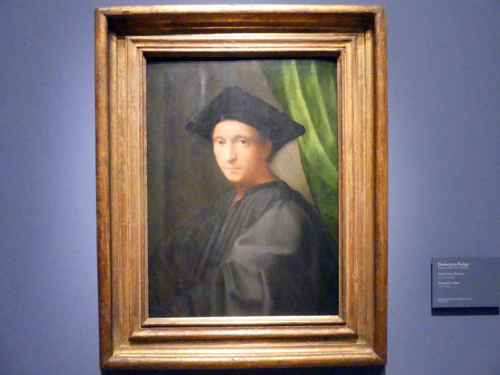 Domenico Puligo: Portrait eines Mannes, Um 1520