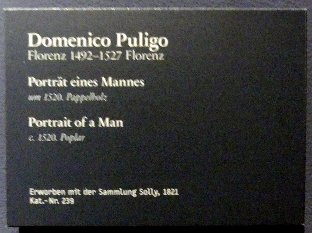 Domenico Puligo: Portrait eines Mannes, um 1520, Bild 2/2