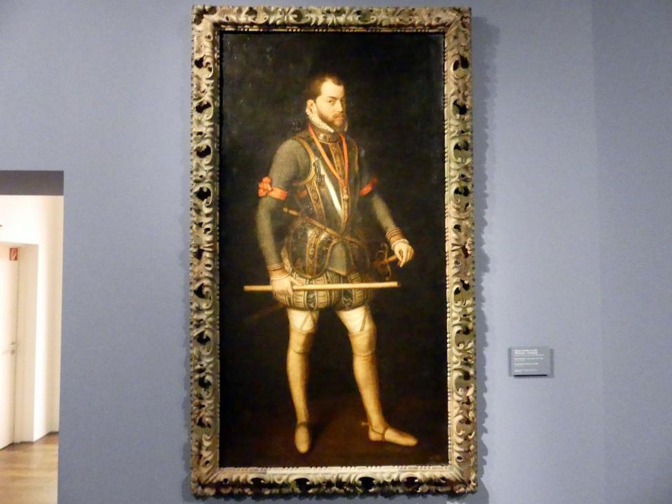Alonso Sánchez Coello (Werkstatt): König Philipp II. von Spanien (1527-1598), nach 1566, Bild 1/2