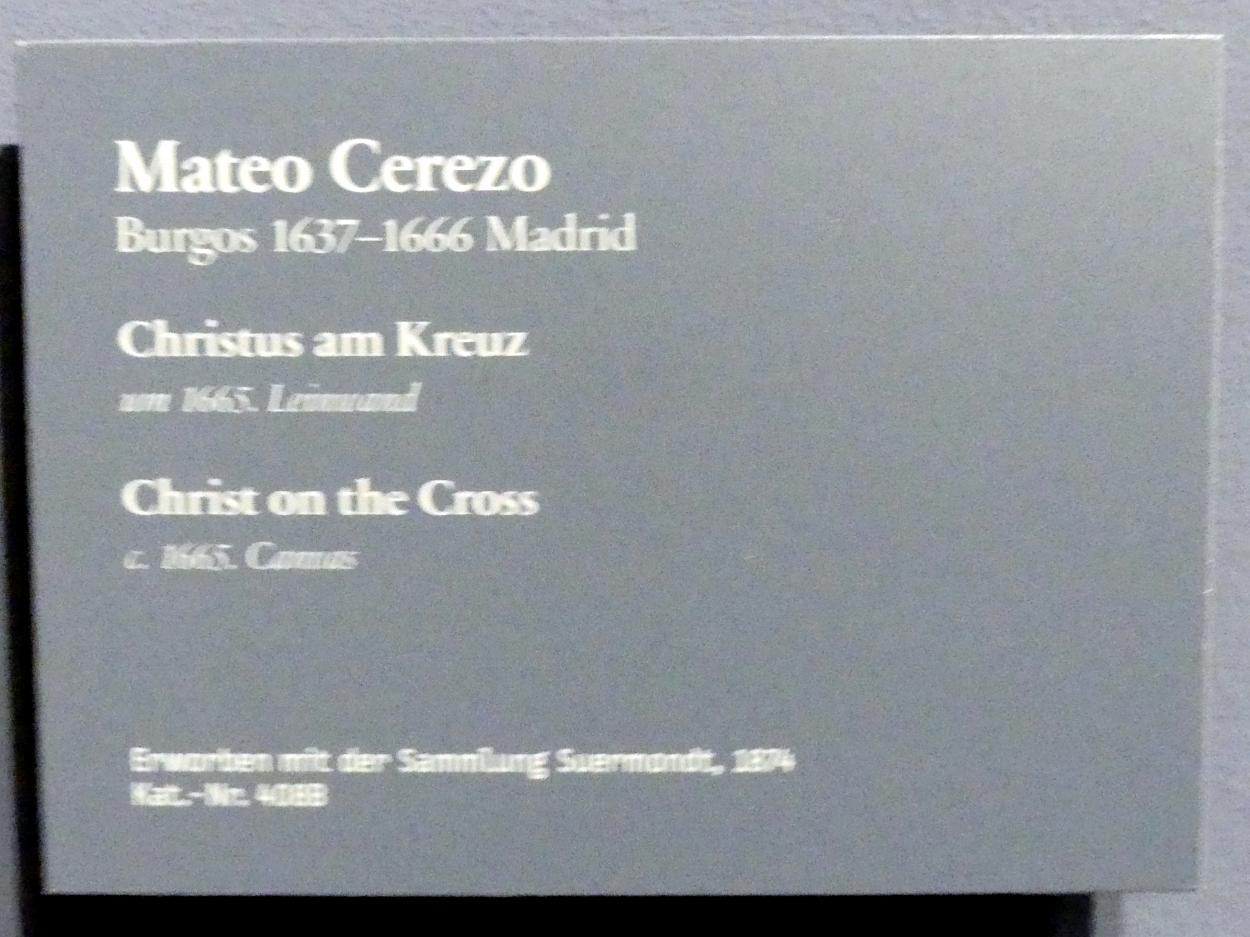 Mateo Cerezo der Jüngere: Christus am Kreuz, nach 1665, Bild 2/2