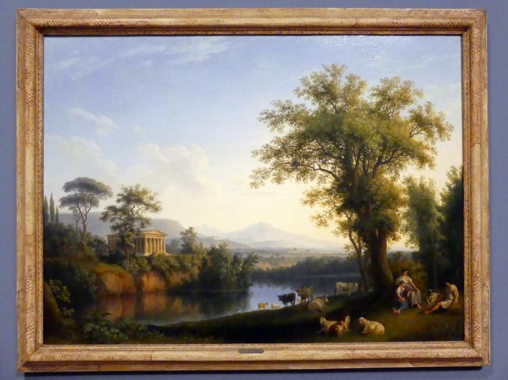 Jakob Philipp Hackert: Italienische Flusslandschaft mit weidenden Tieren, 1786