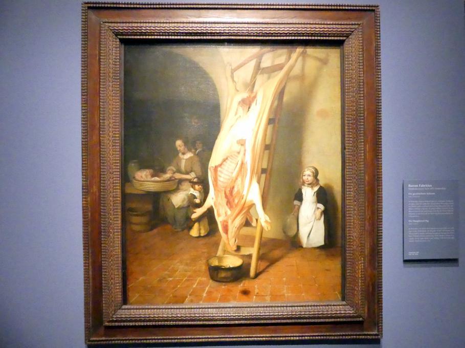 Barent Fabritius: Das geschlachtete Schwein, 1656