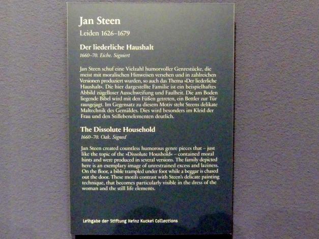 Jan Havickszoon Steen: Der liederliche Haushalt, 1660 - 1670, Bild 2/2