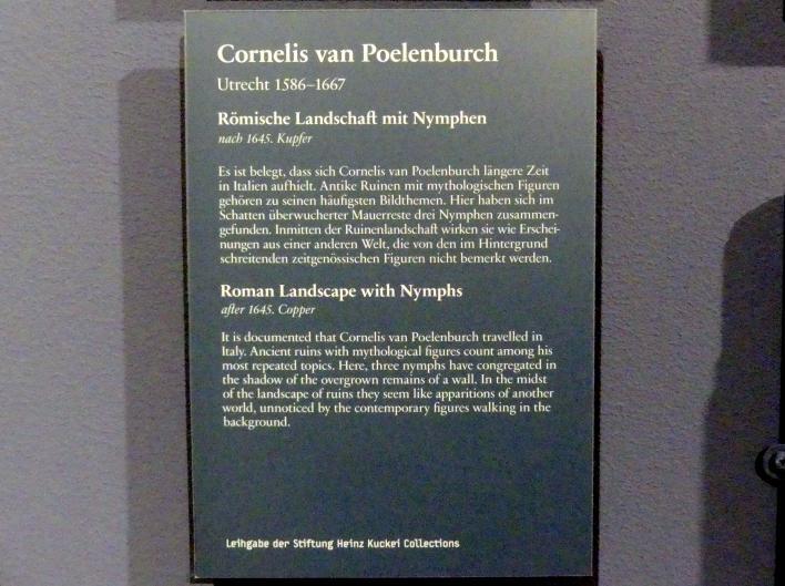 Cornelis van Poelenburgh: Römische Landschaft mit Nymphen, nach 1645, Bild 2/2
