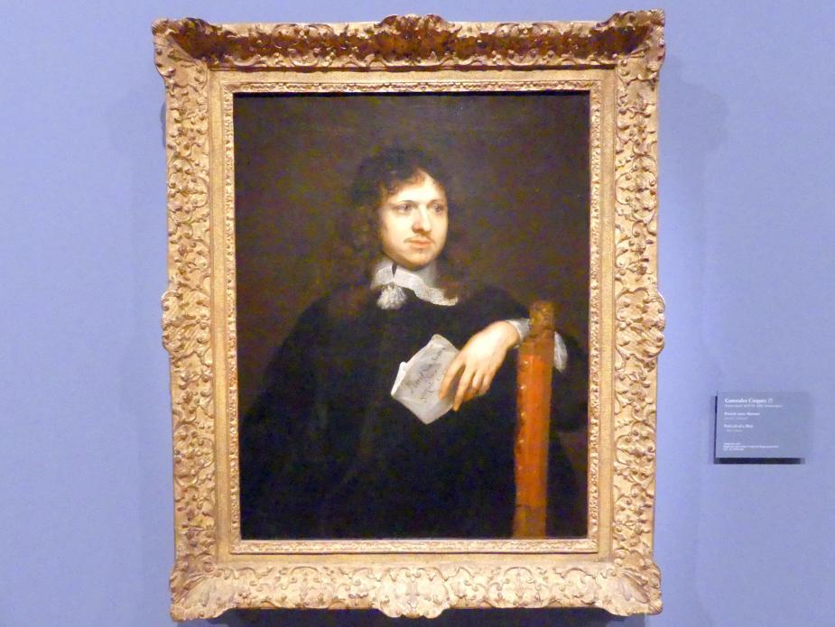 Gonzales Coques: Portrait eines Mannes, Um 1655