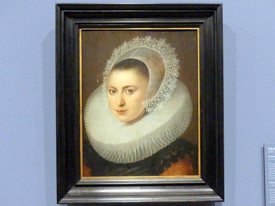 Michiel van Mierevelt: Portrait einer Frau, Um 1620