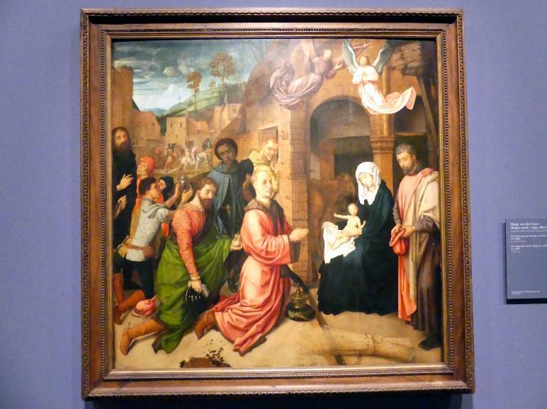 Hugo van der Goes (Kopie): Die Anbetung der Könige vor dem Stall im Hügel, um 1500