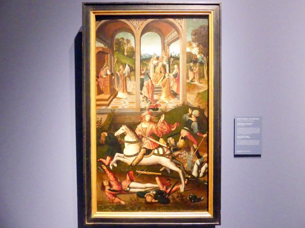 Jacob Cornelisz. van Oostsanen: Legendenszenen aus dem Leben des hl. Hubertus von Lüttich, Um 1510