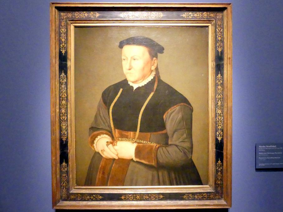 Nicolas Neufchâtel: Bildnis einer Nürnberger Patrizierin, Um 1570