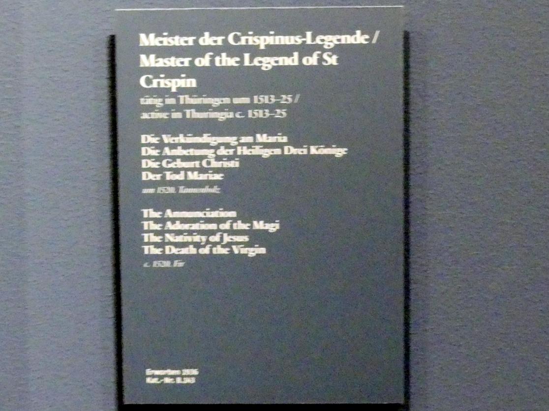 Meister der Crispinuslegende: Retabel des Straußfurter Marienaltars, um 1520