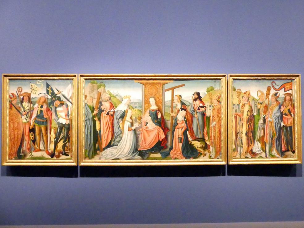 Meister der jüngeren heiligen Sippe (Werkstatt): Drei Altartafeln, um 1500 - 1506