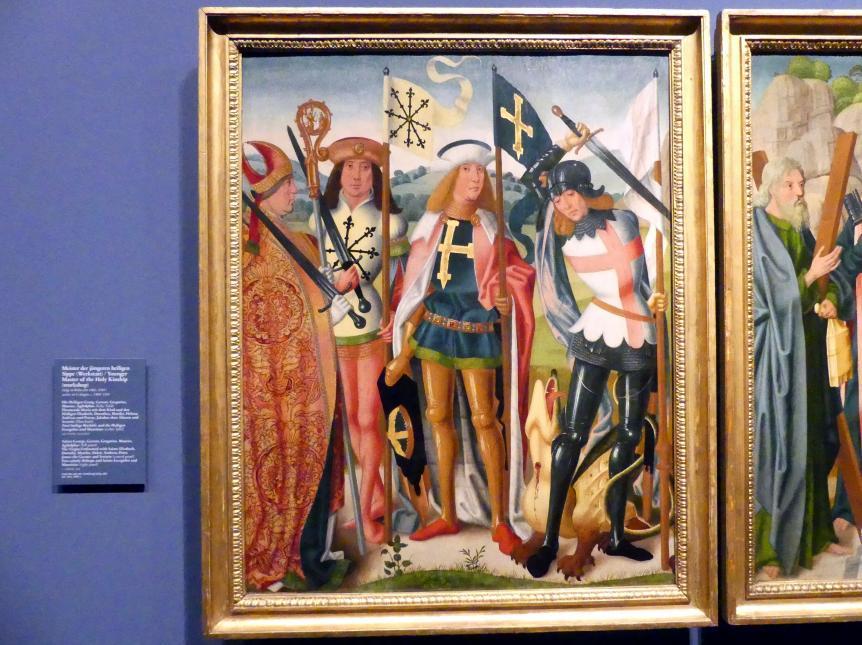 Meister der jüngeren heiligen Sippe (Werkstatt): Drei Altartafeln, um 1500 - 1506, Bild 2/5