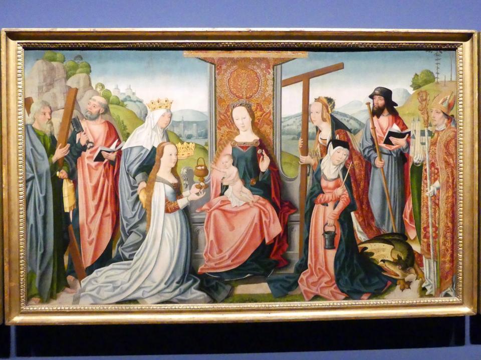Meister der jüngeren heiligen Sippe (Werkstatt): Drei Altartafeln, um 1500 - 1506, Bild 3/5