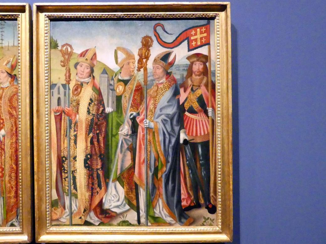 Meister der jüngeren heiligen Sippe (Werkstatt): Drei Altartafeln, um 1500 - 1506, Bild 4/5