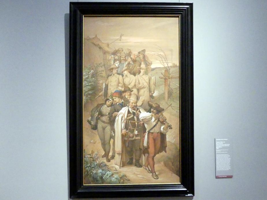 Edward von Steinle: Zug der Gäste aus der Tscharda, 1854