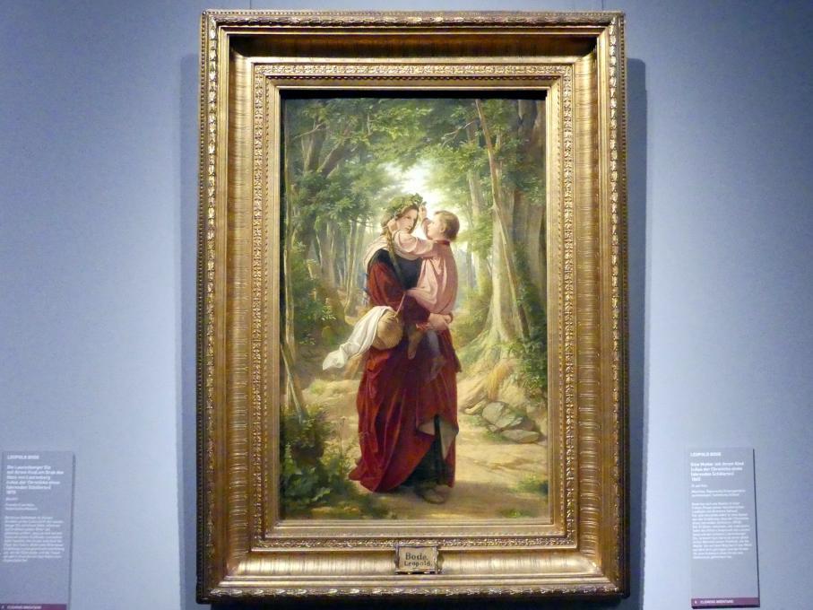 Leopold Bode: Eine Mutter mit ihrem Kind, 1865