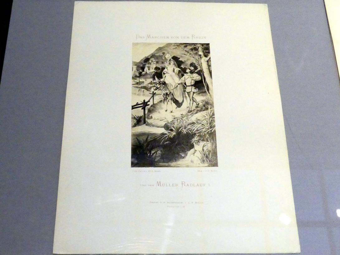 Carl Friedrich Mylius: Radlauf und Ameleya ziehen nach Mainz, 1870