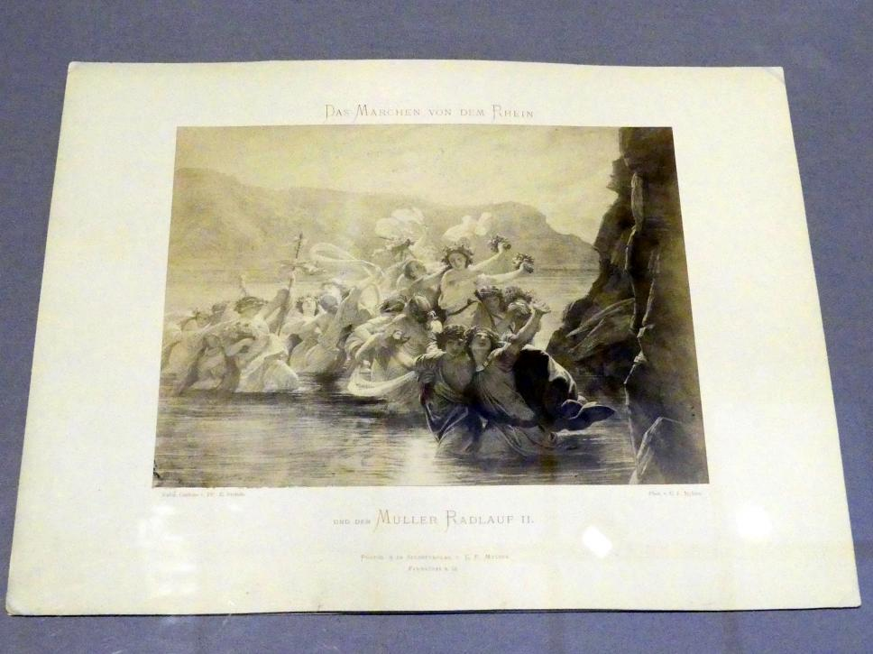 Carl Friedrich Mylius: Zug der Nebenflüsse zu Vater Rheins Wasserschloss, 1870