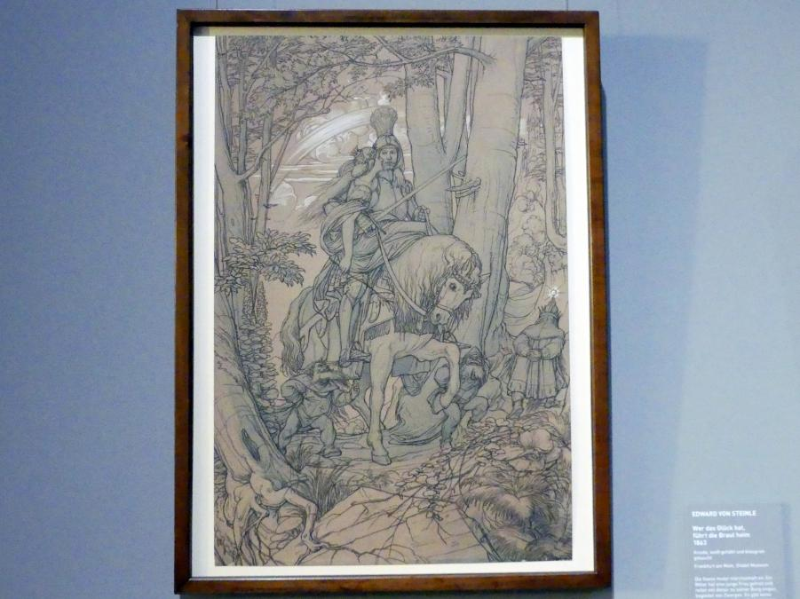 Edward von Steinle: Wer das Glück hat, führt die Braut heim, 1863