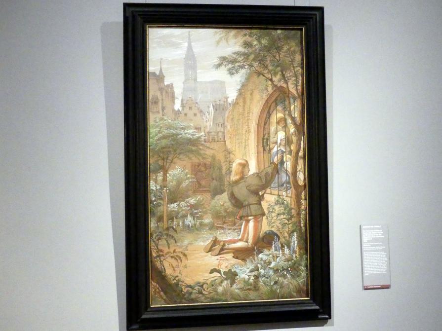 Edward von Steinle: Der fahrende Schüler im Garten des Ritters Veltlin zu Straßburg, 1854