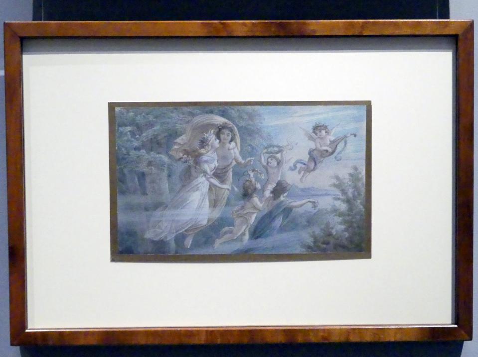Leopold Bode: Ein Sommernachtstraum: Oberon und Titania schweben über eine Waldwiese, 1883