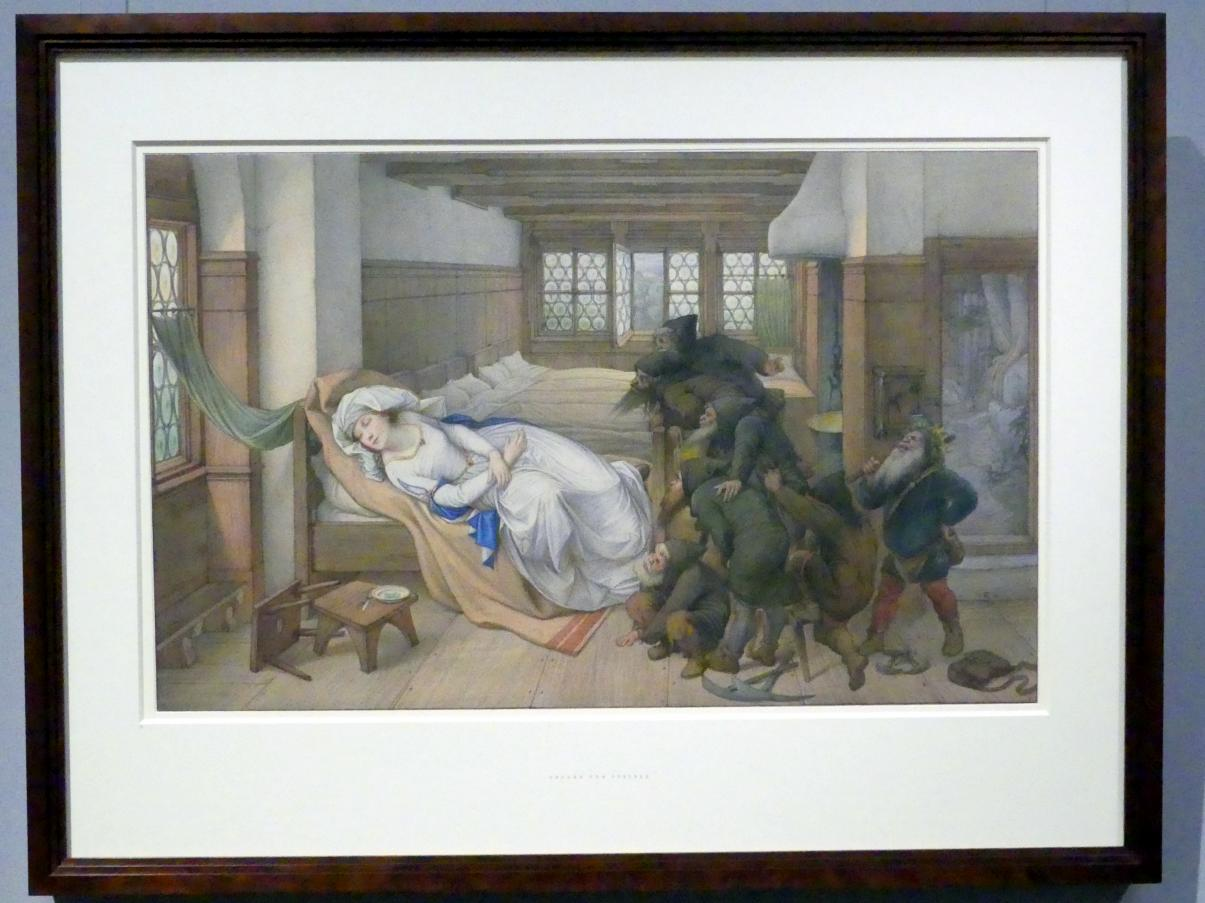 Edward von Steinle: Schneewittchen bei den Zwergen, 1874