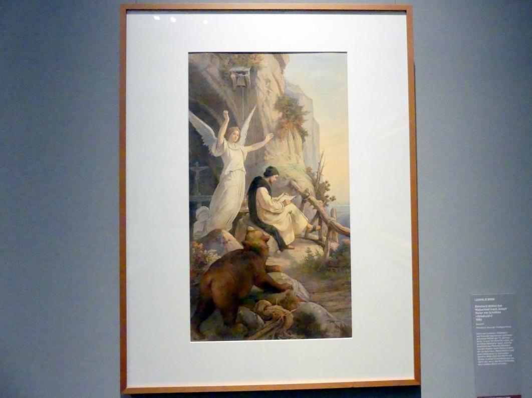Leopold Bode: Ekkehard dichtet das Waltarilied, 1886