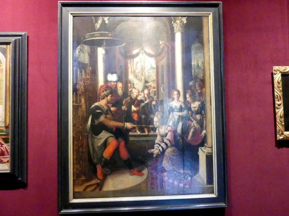 Jan Swart van Groningen: Esther vor König Ahasveros, um 1530 - 1535