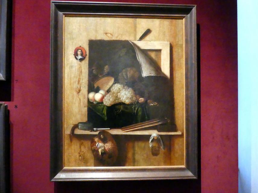 Cornelis Gijsbrechts: Stillleben mit Selbstbildnis, 1663