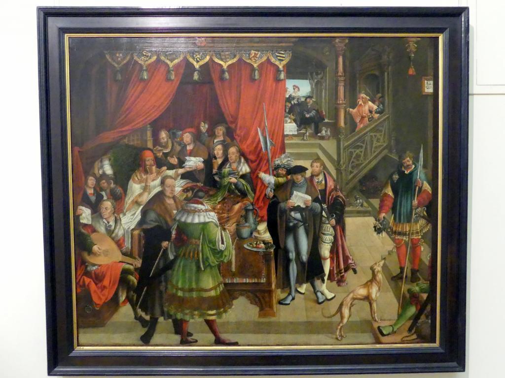Hans Wertinger: Der kranke Alexander der Große und sein Arzt, 1517