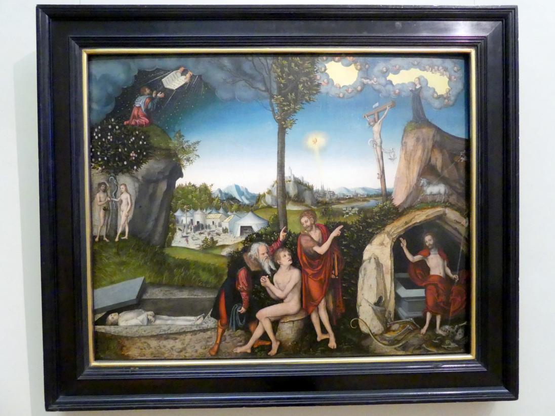 Lucas Cranach der Ältere: Gesetz und Evangelium, 1529