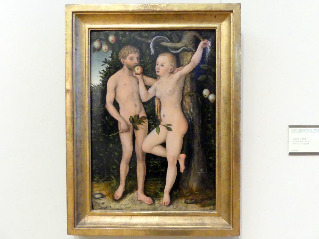 Lucas Cranach der Ältere: Adam und Eva, Um 1538