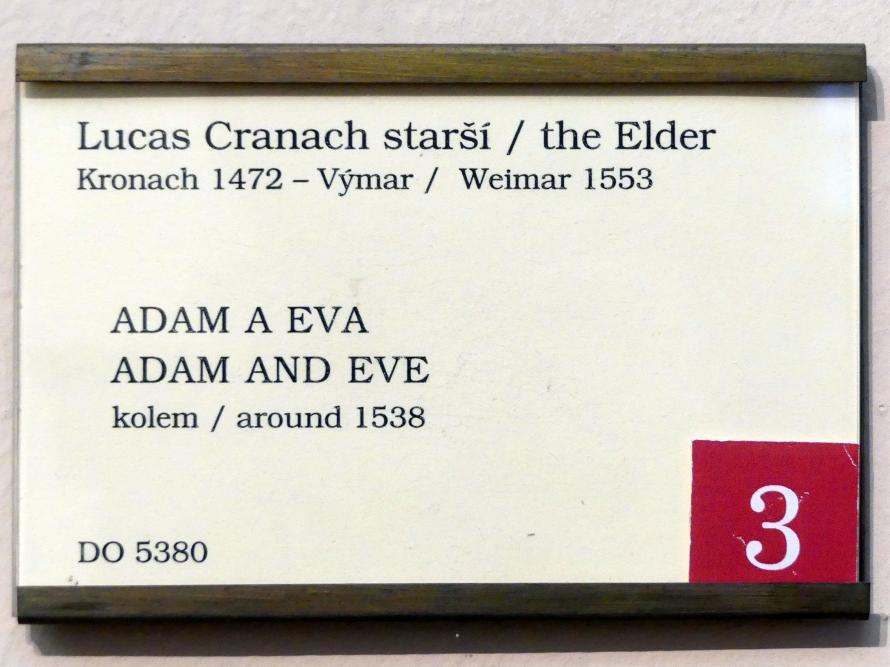 Lucas Cranach der Ältere: Adam und Eva, um 1538, Bild 2/2