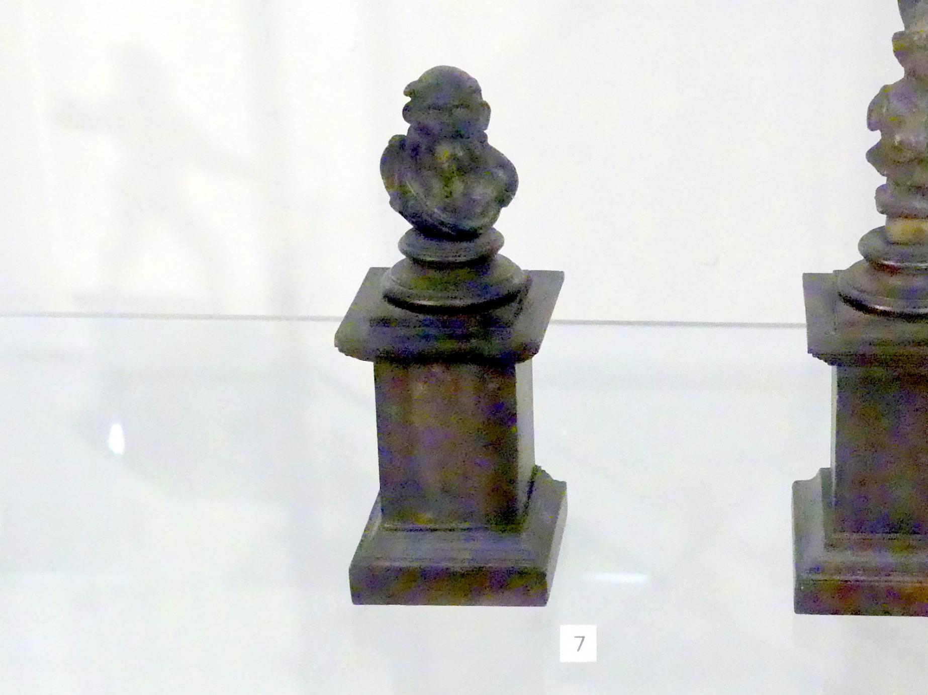 Römische Bronzefigur: Dekoration einer Couch (?), Büste des Silen, 0 - 300