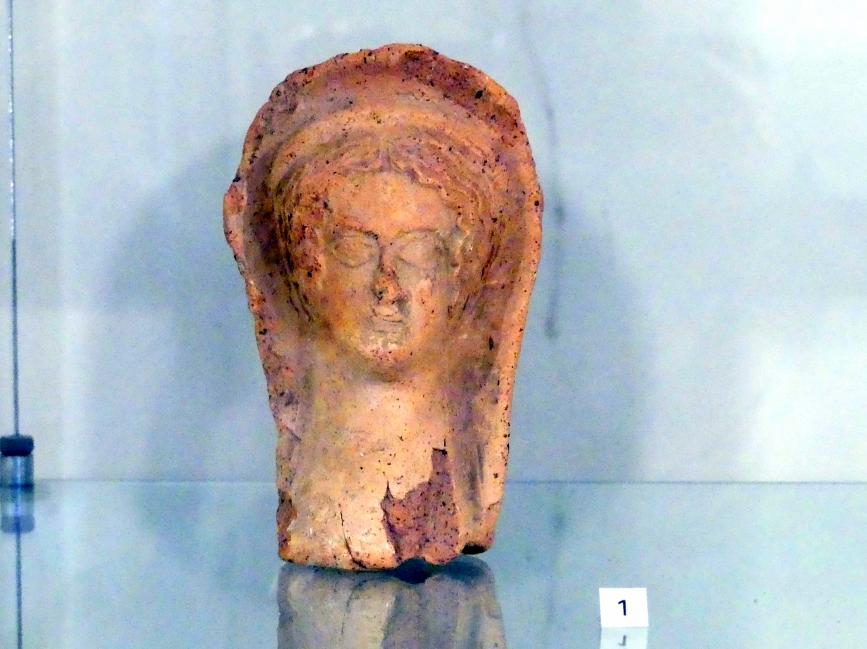 Etruskischer weiblicher Votivkopf, 300 - 100 v. Chr.