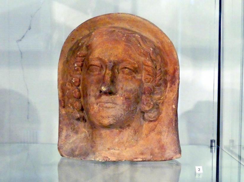 Etruskischer weiblicher Votivkopf, 3. Jhd.