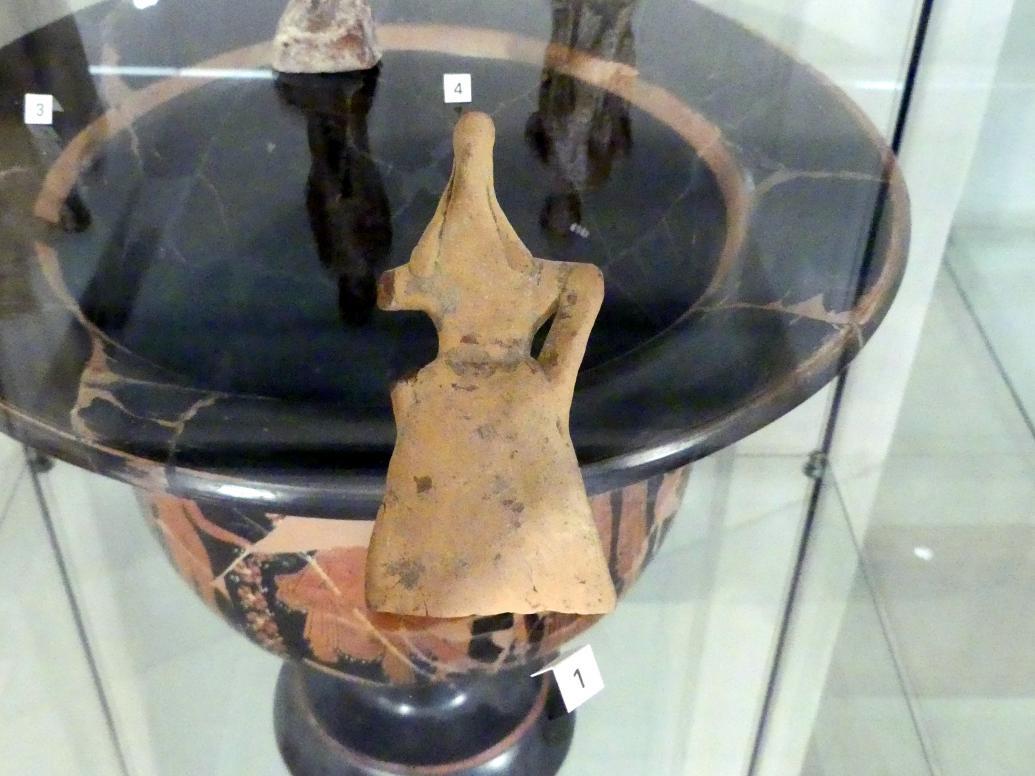 Idol: Sitzende weibliche Figur, Mitte 6. Jhd.