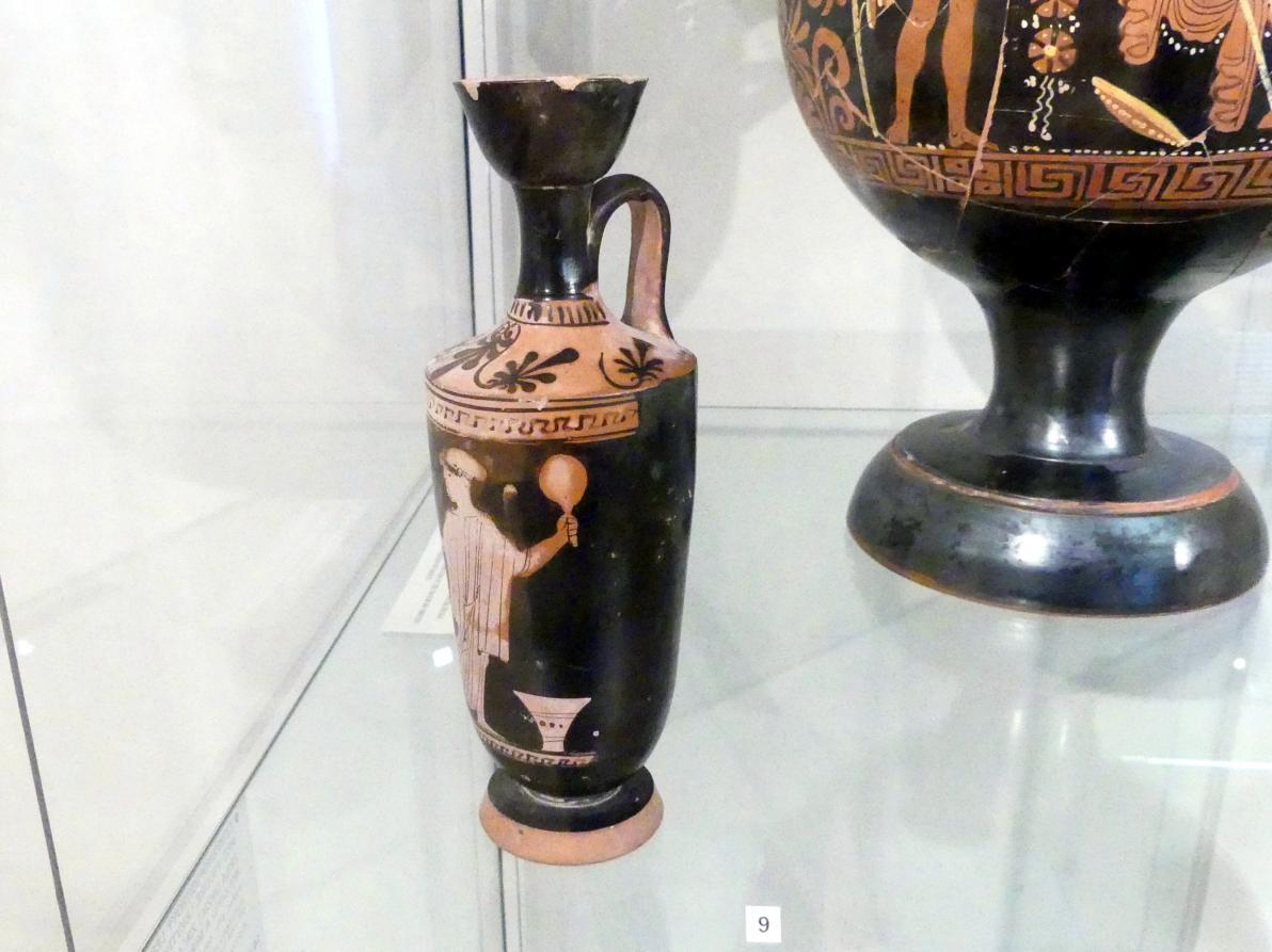 Rotfigurige Lekythos: Frau mit Spiegel, 470 - 460 v. Chr.