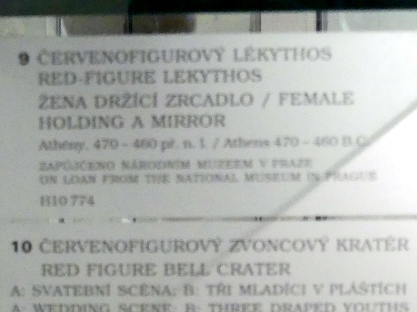 Rotfigurige Lekythos: Frau mit Spiegel, 470 - 460 v. Chr., Bild 2/2