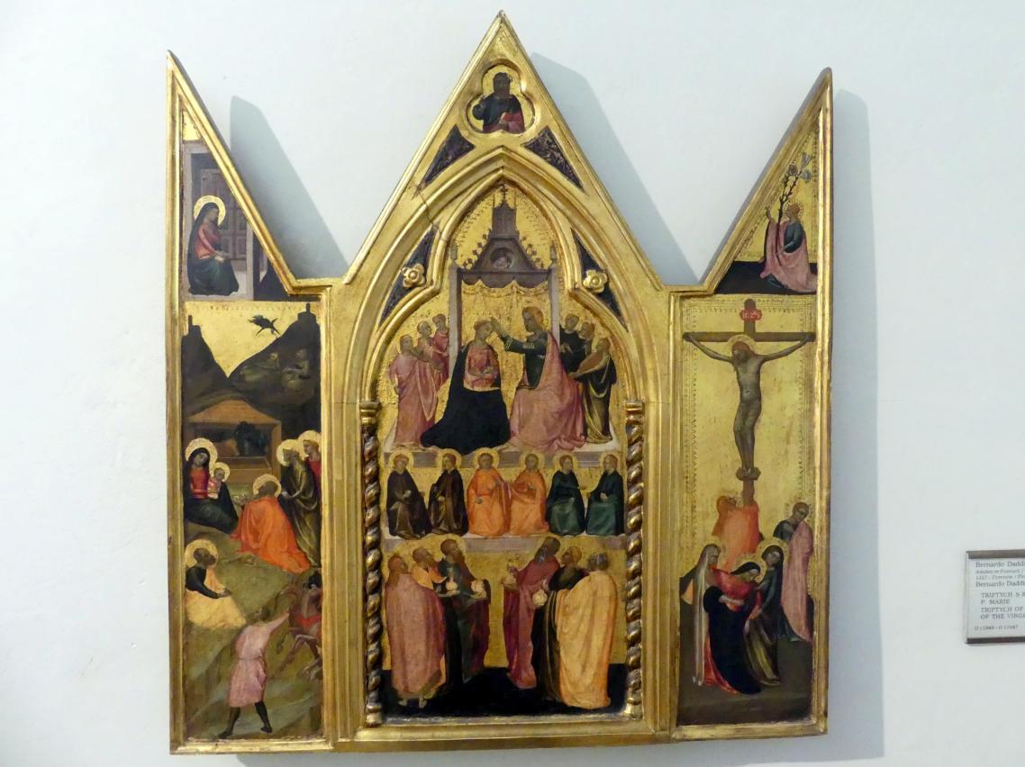 Bernardo Daddi: Tryptichon mit der Krönung Mariens, Undatiert