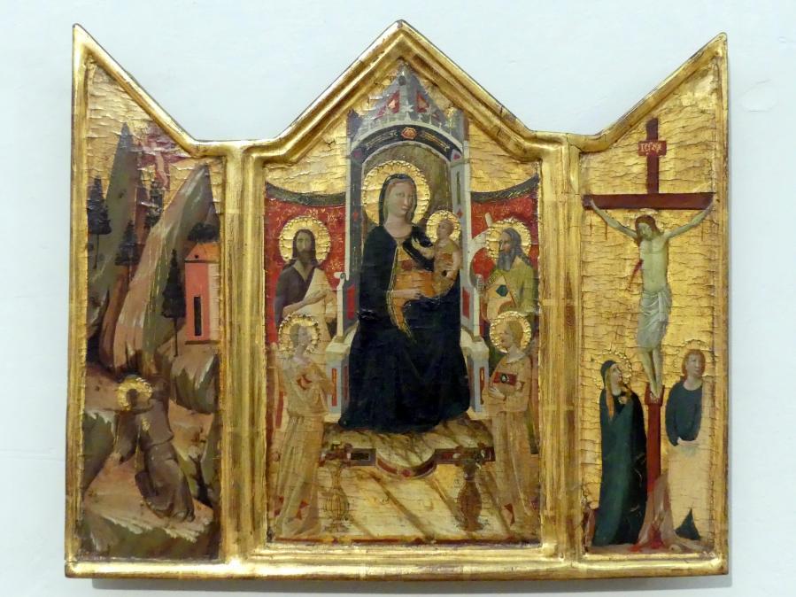 Jacopo del Casentino: Tryptichon mit der thronenden Maria mit Kind, Undatiert