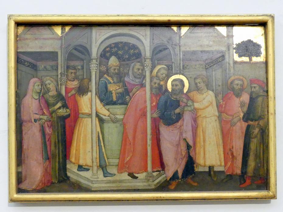 Lippo d'Andrea (Pseudo-Ambrogio di Baldese): Vertreibung Joachims aus dem Tempel, Undatiert